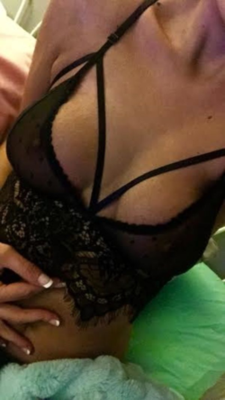 Collar Bone and Lace Lingerie [self]