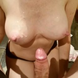 Cum and tits (m)ake (f)or an awesome combination