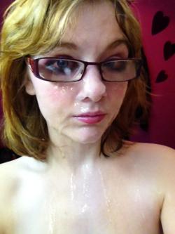 Cute chick in glasses