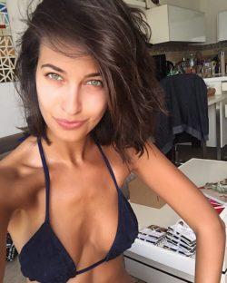 Devilish brunette