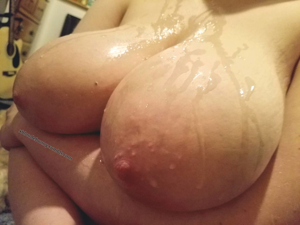 Do you guys like cum covered tits..?