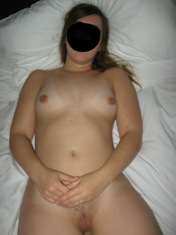 Frontal view of my wife