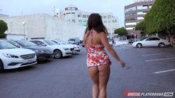 Eva Lovia goes for a walk