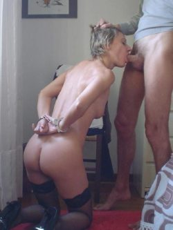 Handcuffed Blowjob