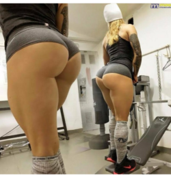 Her regimen include like 1000 squats a day)