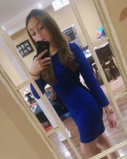 Little blue dress