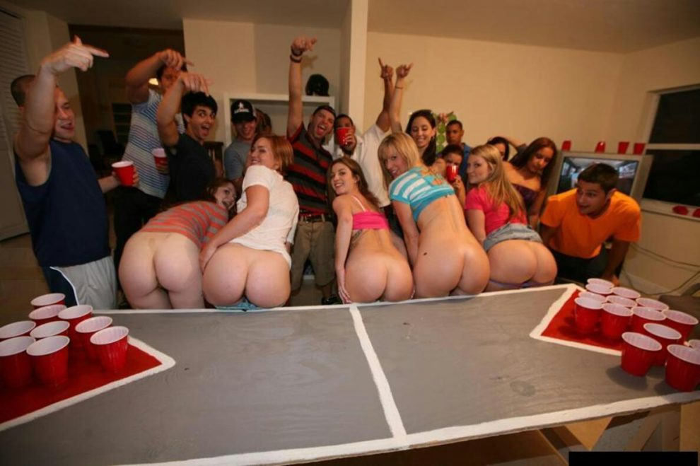 College rules beer pong girls