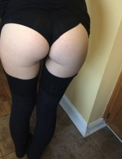 My lady lifted her skirt for a quick pic ;) since you enjoyed the last. Seriously perfect ass