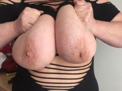 My wife's huge boobs.