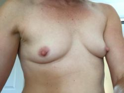 On a business trip - flat-chested MILF wife sending me inspiration. I love sharing pictures of her and getting feedback