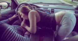 Jillian Janson causing man to break road rules