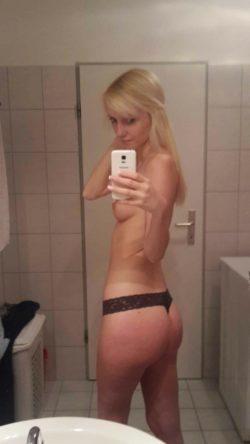 Proud of her ass