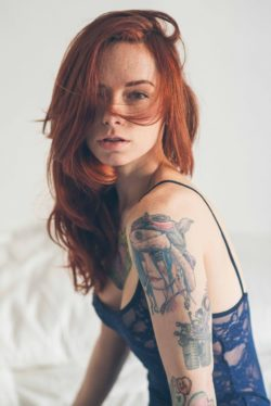 Redhead with Tats
