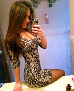 Snakeskin dress selfie
