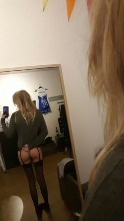 Stockings and cute ass