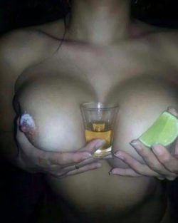 Tequila shot...