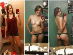 Triple take selfie