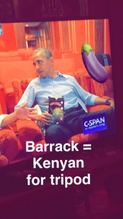 Welcome to snap chat POTUS
