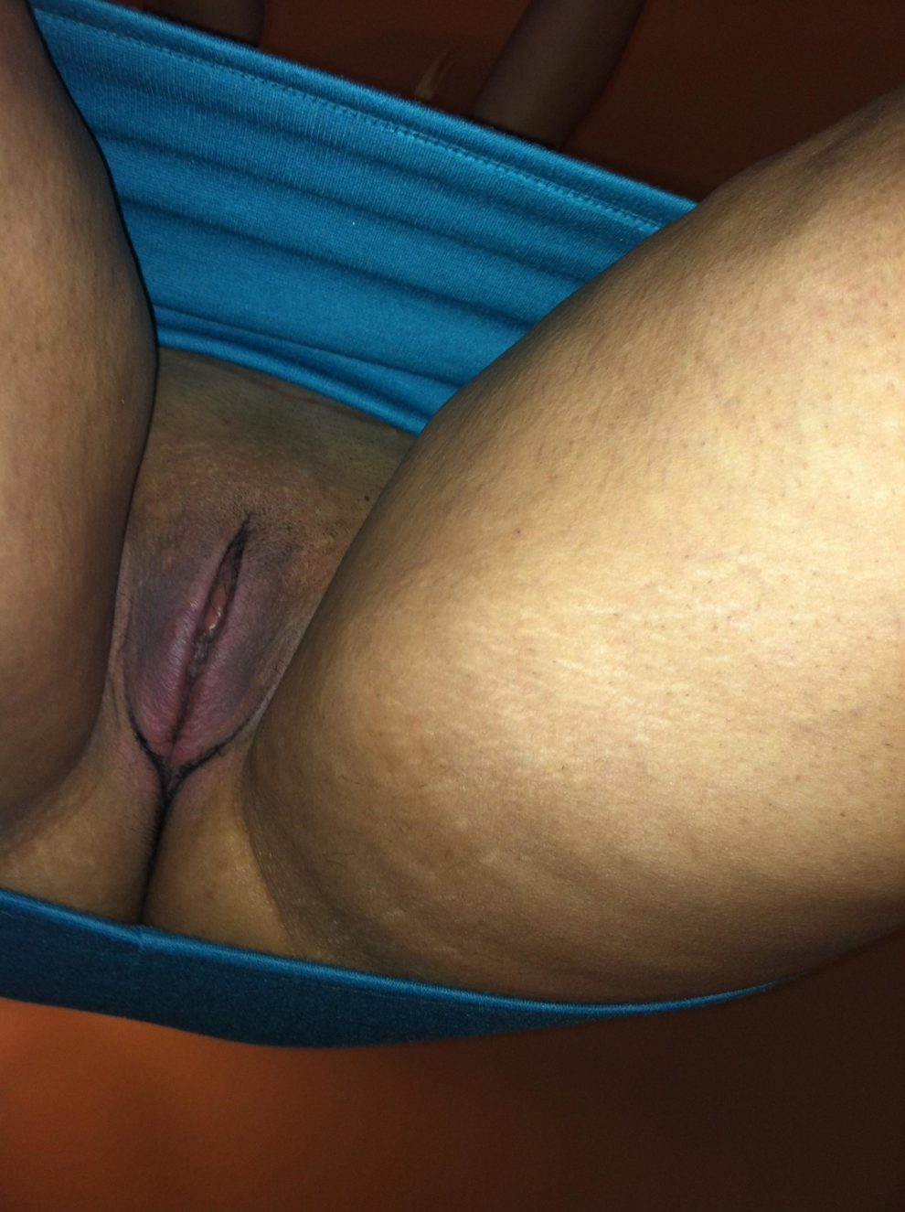 Wife's thick meaty pussy lips all swollen