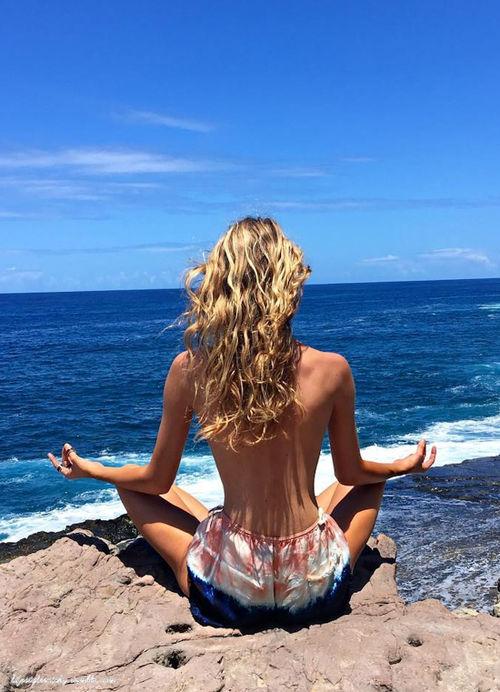 beachside meditation