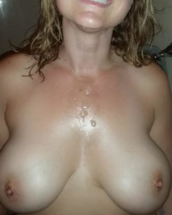 cum covered mil(f)y titties