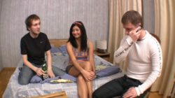 Crazy 3some act with teenage Sandra.