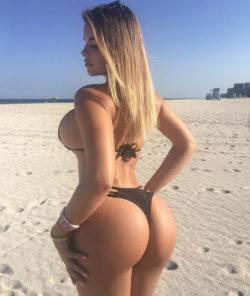 Beautiful beach bum