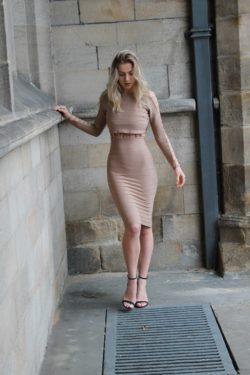 Beautiful in a bodycon dress