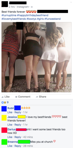 Best friends post ass pics together ( x post trashy)