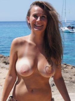 Breasts on the beach