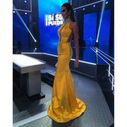 Catherine Siachoque - Yellow evening dress