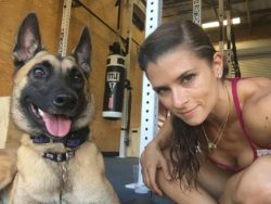 Danica Patrick has a very photogenic pooch.