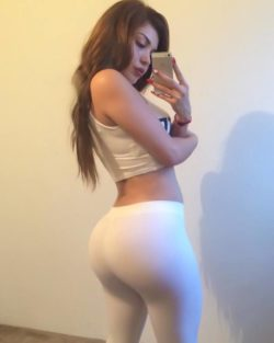 Dem White Yoga Pants