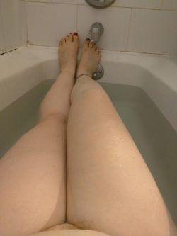 In the tub...My legs are my favorite part of my body. What do you think?