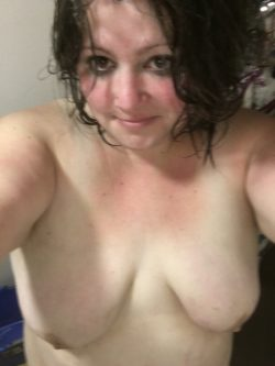 Just out of a steamy shower