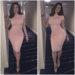 Karlaprime in her tight dress