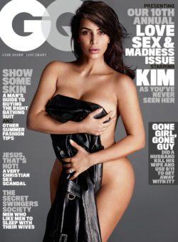 Kim Kardashian on the cover of GQ (X-post /r/KimKardashianPics)