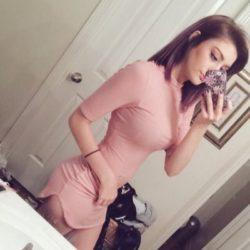 Kokiri in a pink dress