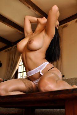 Lacey Banghard posing topless