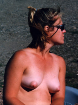 Nice Nipples Topless Outside