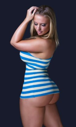 Pawg in Striped dress