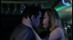Lily Labeau fucks in a club bathroom while Lily Carter watches