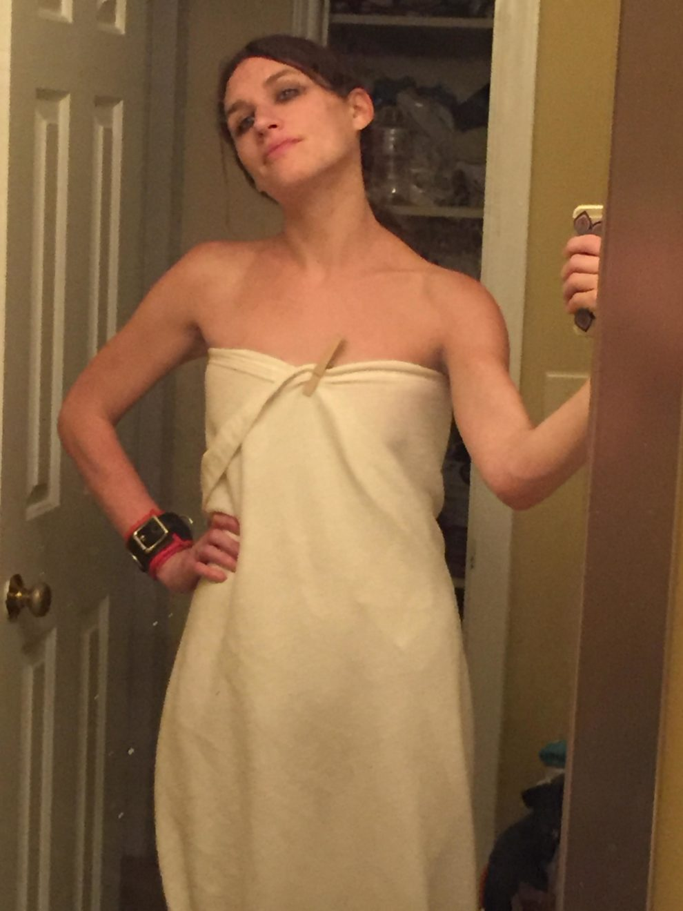 Postcoital Blanket Dress! (f)