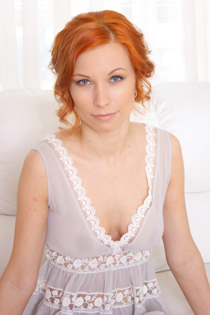 Redhead In A Naughty Negligee