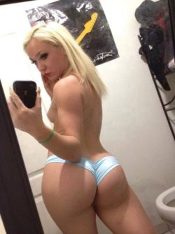 Round Butt In Blue Panties