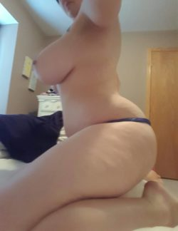 Side view of my huge thighs and ass