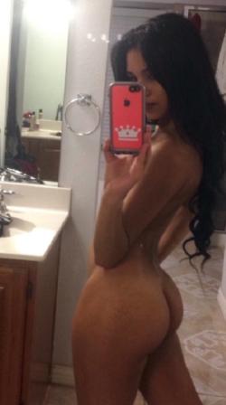 Side view selfie