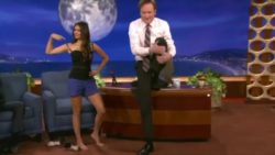 Some yoga moves on Conan's show...
