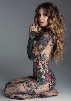 That's a lot of tattoos