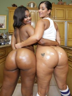 Two Ebony Pornstars with Two Fat Asses